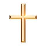 cross złoto Zdjęcia Royalty Free