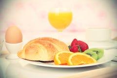 Crossaint breakfast Stock Images