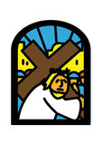 Crossbearer window  Royalty Free Stock Photos