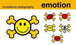 Crossbonepictography van de emotie Stock Foto's