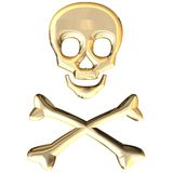 Crossbones Foto de Stock Royalty Free