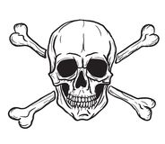crossbones czaszka royalty ilustracja
