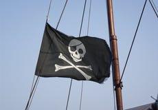 crossbones flag den jolly roger skallen Royaltyfri Bild