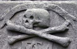Crossbones on a grave Stock Photo