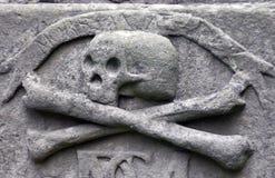Crossbones on a grave Stock Photo