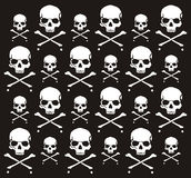 Crossbones and skull pattern. Individual objects very easy to edit vector illustration