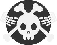 Crossbones Zredukowana odznaka, emblemat/ Obrazy Royalty Free