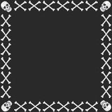 crossbonesskalle vektor illustrationer