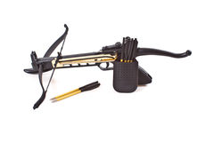 Crossbow. And arrows on a white background Royalty Free Stock Images
