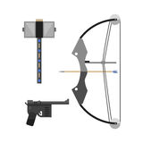 Crossbow arbalest vector illustration Royalty Free Stock Photography