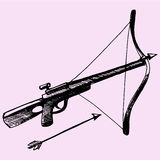 Crossbow Arrow. Doodle style sketch illustration hand drawn vector Stock Photo