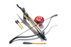 Crossbow with arrows Stock Photos