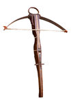 Crossbow - clipping path. Medieval wooden crossbow, middle ages weapon - isolated with clipping path Stock Photo