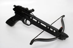 Crossbow handgun. Picture of a crossbow pistol. A very strong one. Has a 20 kg bow Stock Image