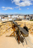 Crossbow at Villena Castle Royalty Free Stock Photography