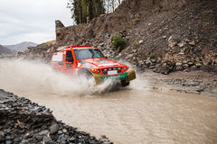 Crosscountry car rally Royalty Free Stock Images