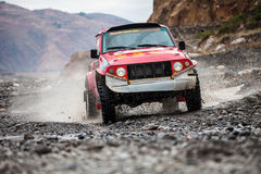 Crosscountry car rally Stock Images