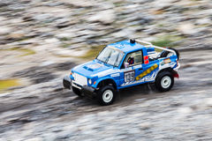 Crosscountry car rally Royalty Free Stock Image