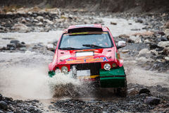 Crosscountry car rally Stock Image