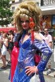 Crossdressing bij de Vrolijke Trots 2010 van Parijs Royalty-vrije Stock Foto