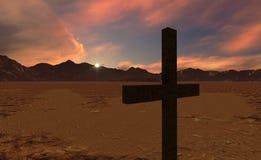 Crosse przy zmierzchem Obraz Royalty Free