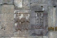 Crosse velho (khachkar) no Tatev monestry, Armênia Fotografia de Stock Royalty Free
