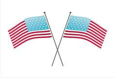 Crossed american flags Royalty Free Stock Photography