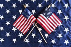 Crossed American Flags Royalty Free Stock Photo