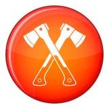 Crossed axes icon, flat style Stock Photo
