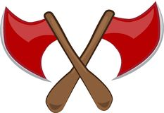 Crossed Axes Royalty Free Stock Image
