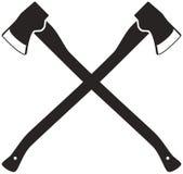 Crossed axes Stock Photos