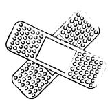 Crossed bandages icon image. Illustration design Stock Photos