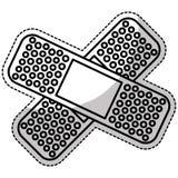Crossed bandages icon image Royalty Free Stock Photos