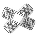 Crossed bandages icon image Royalty Free Stock Photography
