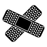 Crossed bandages icon image Stock Photography