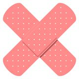 Crossed bandaids Stock Photography