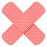 Crossed bandaids vector illustration