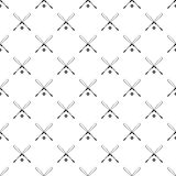 Crossed baseball bats and ball pattern Royalty Free Stock Photo