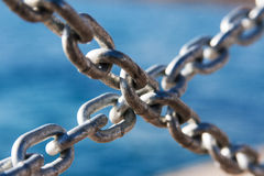Crossed chains Royalty Free Stock Photos