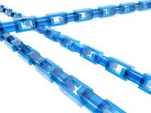 Crossed chains Royalty Free Stock Image