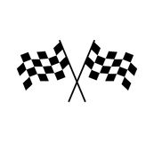 Crossed Checkered Flag Design. EPS 8 supported Stock Photography