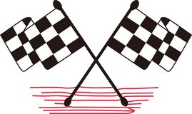 Crossed Checkered Flags Stock Image