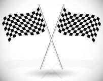 Crossed Checkered Racing Flags Royalty Free Stock Image