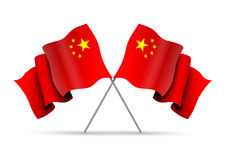 Crossed China Flags Royalty Free Stock Photo