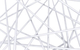 Crossed chrome spokes. On white background Stock Photo