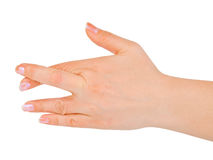 Crossed fingers Royalty Free Stock Photos