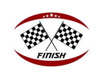 Crossed flag speed racing themed illustration vector design. Template stock illustration