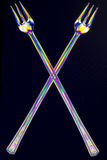 Crossed forks Royalty Free Stock Images