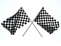 Crossed goal flags Royalty Free Stock Photography