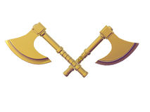 Crossed Golden Axes Royalty Free Stock Photography